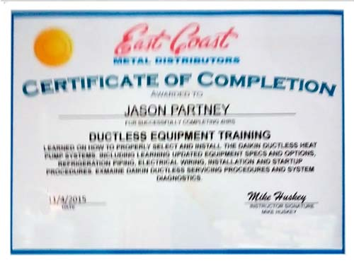 Ductless Systems Training